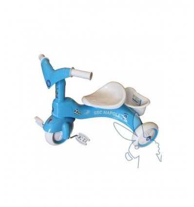 Eco tricycle bleu 81985 SSC Napoli 81985 Linea Paggio- Futurartshop.com