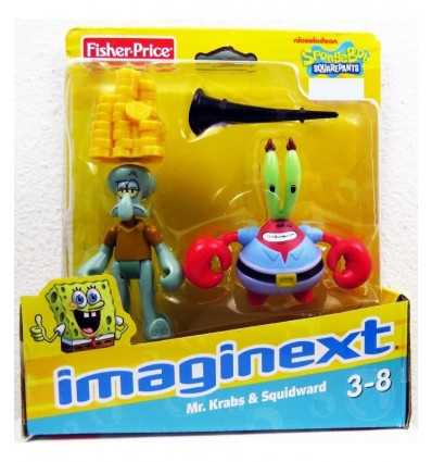 FISHER PRICE Imaginext Sponge Bob W9588 W9586 Krabs/Squid W9588 Mattel- Futurartshop.com
