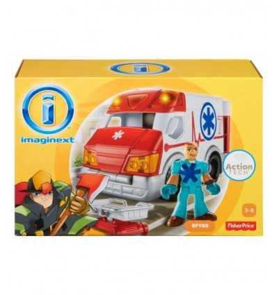 Mattel BGY14 BFY89 ambulanza BFY89 Mattel- Futurartshop.com