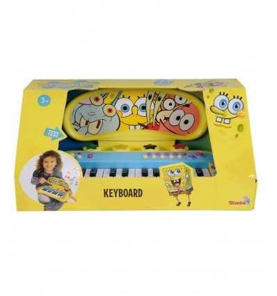 Simba-Sponge Bob 109498549 clavier avec sons et rythmes 109498549 Simba Toys- Futurartshop.com