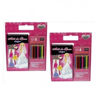 Sketchbook principessa design con 12 pastelli 03341 03341 Mazzeo- Futurartshop.com
