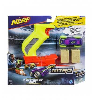 Nerf nitro throttleshot giallo con auto viola C0780EU40/C0783 Hasbro-Futurartshop.com