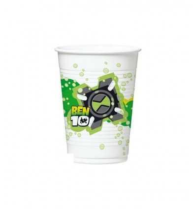 10 bicchieri di plastica 20 cl Ben 10 monouso 119502 Como Giochi -Futurartshop.com