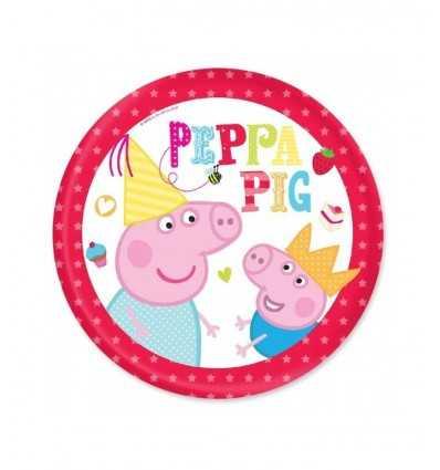 Peppa Pig paper plates, 23 cm CMG203721 Como Giochi - Futurartshop.com
