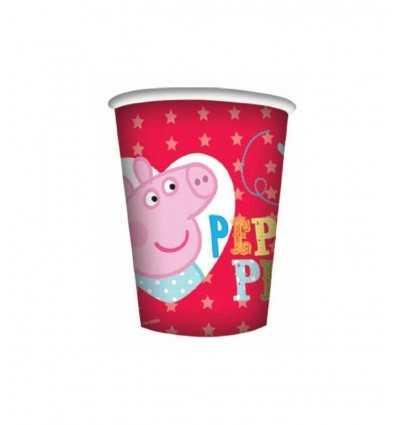 Bicchiere, in carta Peppa Pig 8 pz CMG203738 Como Giochi -Futurartshop.com