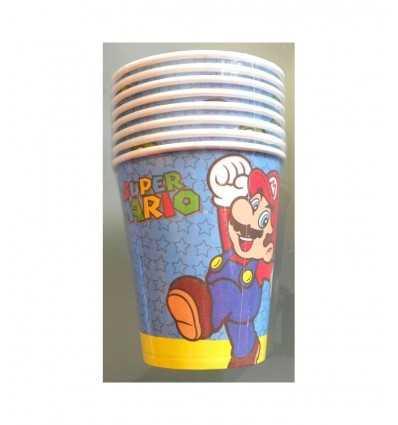 8 Bicchieri Super Mario per Party , CMG204995 CMG204995 Como Giochi -Futurartshop.com