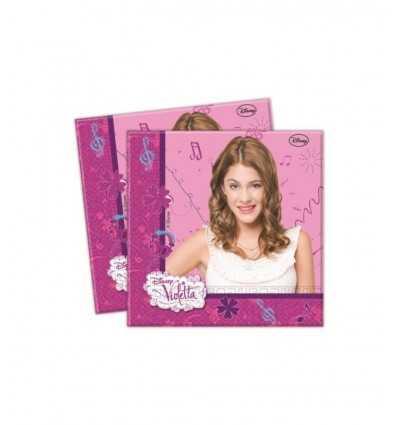 Serviettes de table Disney partie Violetta 33x33cm 20pcs CMG82268 CMG82268 Como Giochi - Futurartshop.com