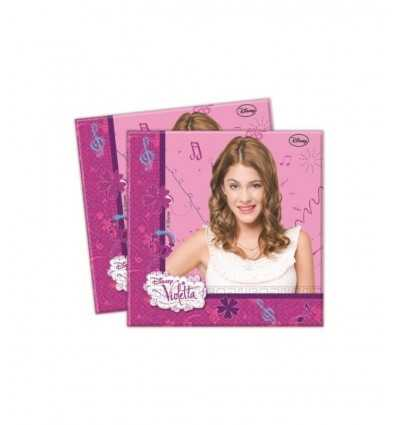 Disney party napkins Violetta 33x33cm 20pcs CMG82268 CMG82268 Como Giochi - Futurartshop.com