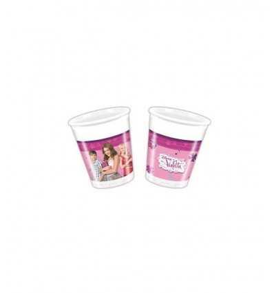 Violetta - Set 8 Bicchieri Di Plastica CMG82267 CMG82267 Como Giochi -Futurartshop.com