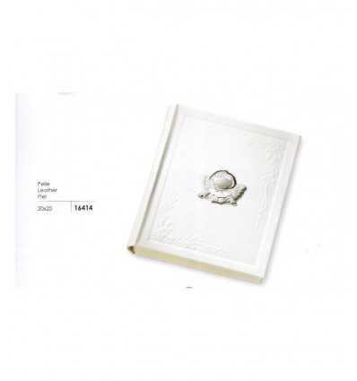 ItalSiver-weiß Leder-Fotoalbum mit Angelo 16414 Italsilver- Futurartshop.com