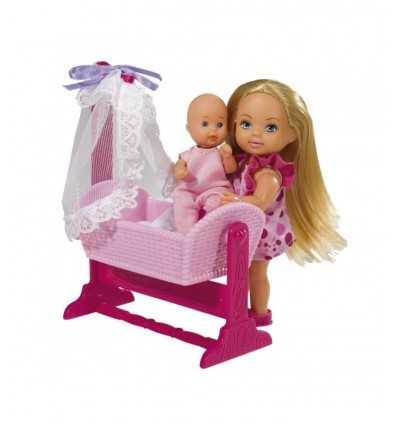 Evi con bebé in culla 105736242 Simba Toys-Futurartshop.com