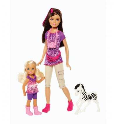 Barbie e sorelline Safari Skipper e Chelsea BDG26 Mattel-Futurartshop.com
