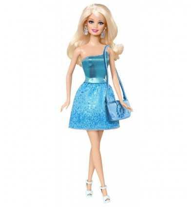 Barbie Glitz blå klänning BCN34 Mattel- Futurartshop.com