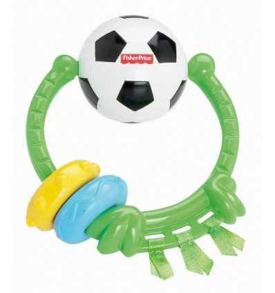 Rattle Teether, soccer ball Y3621 Mattel- Futurartshop.com