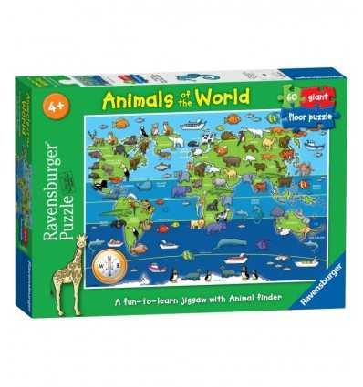 Puzzle 60 PCs, animaux du puzzle géant mondial 07072 Ravensburger- Futurartshop.com