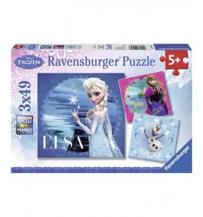 3 x 49 pusselbitar, Olaf Elsa och Anna 09269 Ravensburger- Futurartshop.com