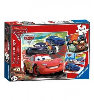 Puzzle 3x49 pz, Cars 2 giro intorno al mondo 09281 Ravensburger-Futurartshop.com