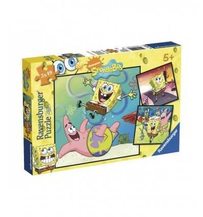 pièces de Puzzle 3 x 49, SpongBob 09290 Ravensburger- Futurartshop.com
