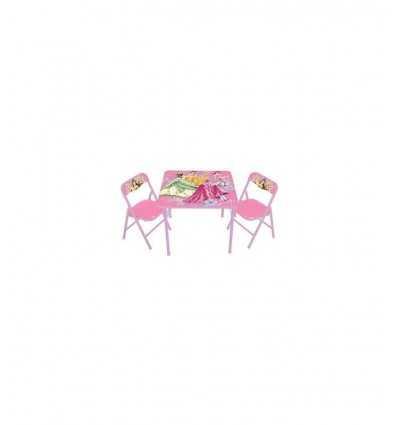 Giochi Preziosi, mesa y 2 sillas princesas HDG47817 Giochi Preziosi- Futurartshop.com