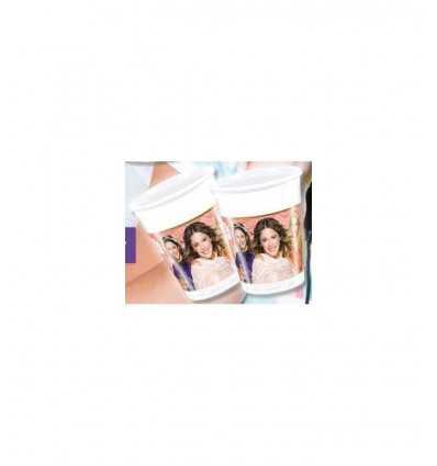 プラスチック カップ 200 ml バイオレット CMG84241 Como Giochi - Futurartshop.com