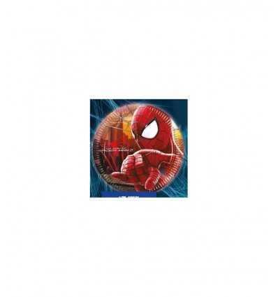 Piatti di carta , Spiderman 23 cm 8 pz CMG82831 Como Giochi - Futurartshop.com