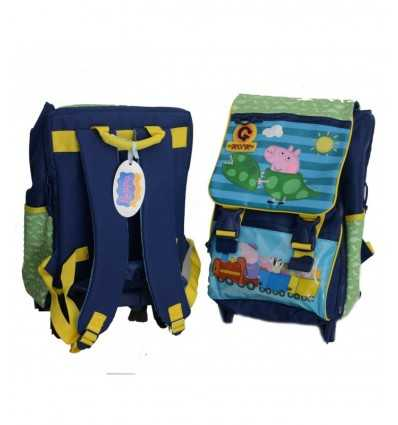 Extendable trolley backpack Peppa Pig George school 2014/2015 140952 Accademia- Futurartshop.com