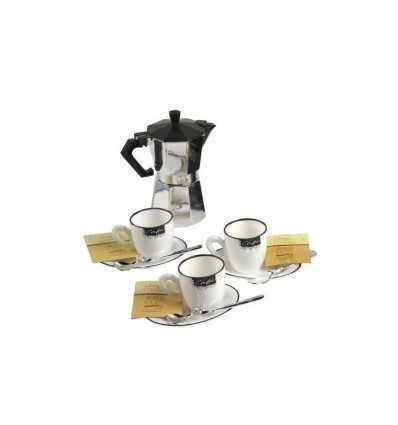 Кофейный сервиз плюс три больше стакана молока GG10001 Grandi giochi- Futurartshop.com