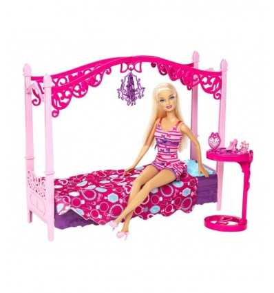 Barbie and her furniture-bed with canopy X7941 Mattel- Futurartshop.com
