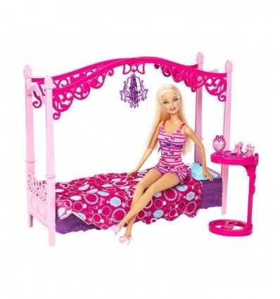 Barbie och hennes möbler-säng med sänghimmel X7941 Mattel- Futurartshop.com