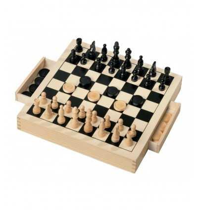 チェッカー チェス木製 30 x 30 GG95001 GG95001 Grandi giochi- Futurartshop.com