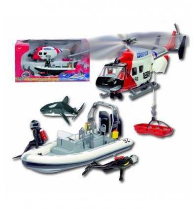 Boat and helicopter Set 21 cm 203314647 Simba Toys- Futurartshop.com