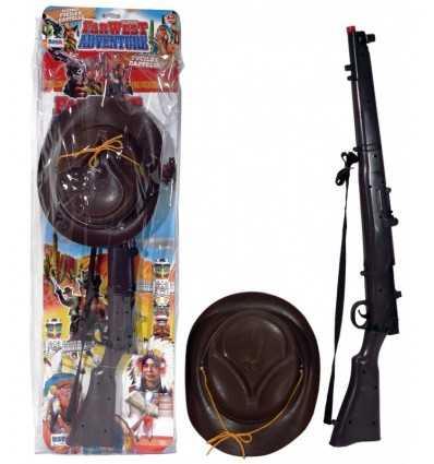 Cowboy-Hut mit mehreren Umschlag-Gewehr 9006 Re.El Toys- Futurartshop.com