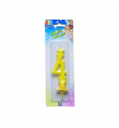 Vela amarilla número 4 70594/C Como Giochi - Futurartshop.com