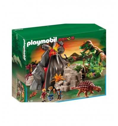 Playmobil 5230-volcán con Saicania y T-Rex 5230 Playmobil- Futurartshop.com