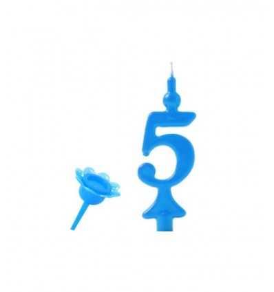 Number 5 Blue candles BIG05200 New Bama Party- Futurartshop.com
