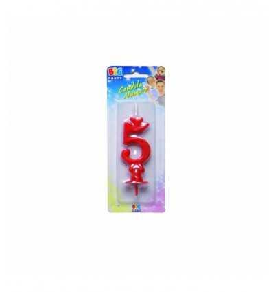 Макси номер 5 красная свеча 53050 New Bama Party- Futurartshop.com