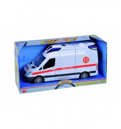 Dickie 203313918A09-fricción ambulancia, luces y sonidos, 34 cm 203313918A09 Simba Toys- Futurartshop.com