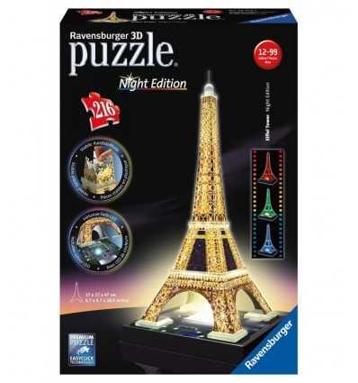 Morceaux de 216 Puzzle 3D Tour Eiffel 12579 1 Ravensburger- Futurartshop.com