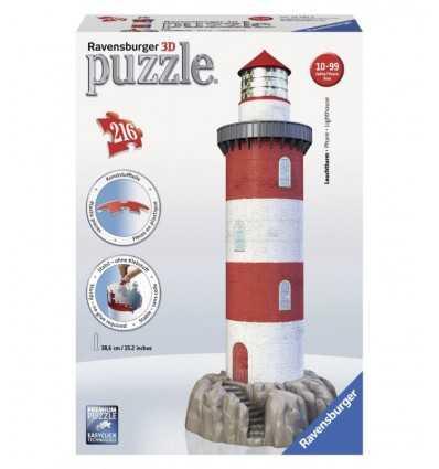 Phare sur les pièces du puzzle 3D 216 rock 12565 4 Ravensburger- Futurartshop.com