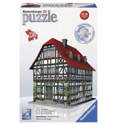 Средневековый дом 3D головоломки 216 12572 2 Ravensburger- Futurartshop.com
