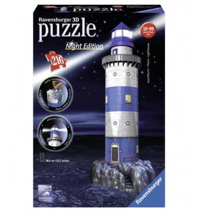 3D Puzzle Night Special Edition with light and Lighthouse Led 216 Pieces 12577 Ravensburger- Futurartshop.com