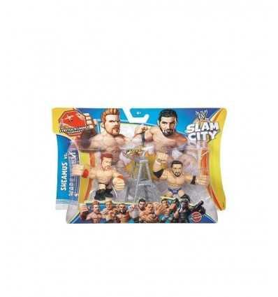 WWE Slam City (Sheamus et Brock Lesnar)-bataille de personnages de dessin animé BHK82 Mattel- Futurartshop.com