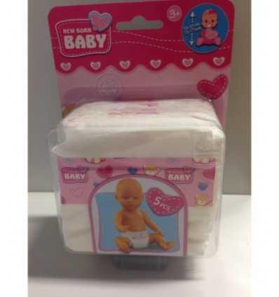 Simba 105561906 35-50 cm- Pannolini per bambola (Confezione da 5) 105561906 Simba Toys-Futurartshop.com