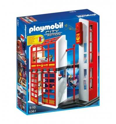 Playmobil caserne de pompiers avec alarme 5361 Playmobil- Futurartshop.com