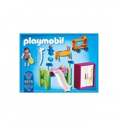 Kleines Schlafzimmer mit Etagenbett Rutsche 5579 Playmobil- Futurartshop.com