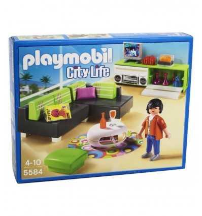 デザイナー家具付きのリビング ルーム 5584 Playmobil- Futurartshop.com