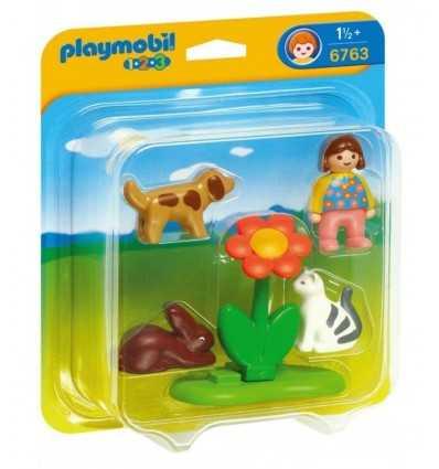 Niña con 3 mascotas 6763 Playmobil- Futurartshop.com